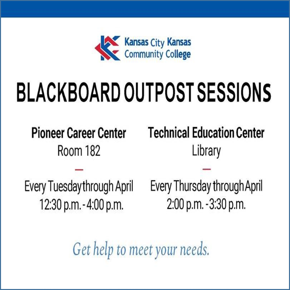 Blackboard Training Outpost Sessions March-April 2018