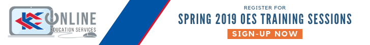 Register for Spring 2019 OES Training Sessions